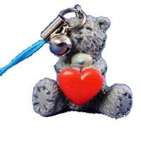 Брелок MTY пластиковый для моб. тел. - Мишка с сердцем G01Q4828