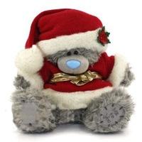 Мишка  MTY 20 см. в костюме Санты (в подарочной коробке)