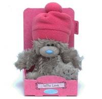 Мишка MTY в розовой шапке
